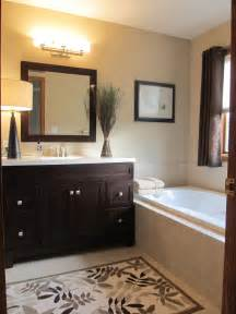 Bathroom Cabinets with Dark Brown Wall Color Ideas