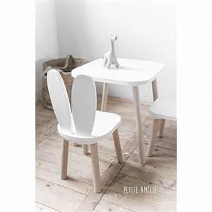 Chaise Et Table Enfant : chaises et table enfant lapin blanc petite am lie chaise enfants salle de jeux enfants ~ Teatrodelosmanantiales.com Idées de Décoration
