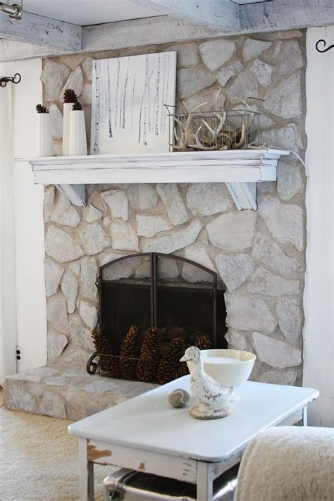 Erins Art And Gardens Painted Stone Fireplace Before And
