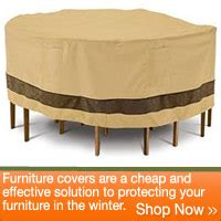 protect and store your patio furniture during the winter