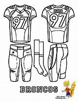 Denver Coloring Football Pages Bronco Uniform Broncos Jersey Sports Printables Quarterback Nfl Printable Ford Yescoloring Uniforms Afc Attack Getcolorings Chargers sketch template
