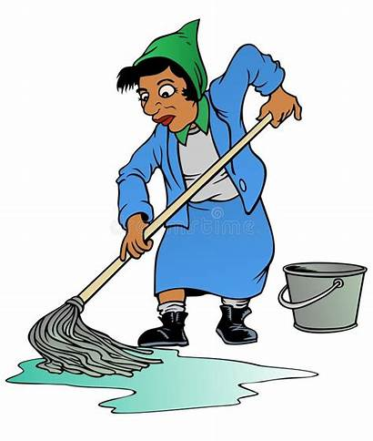 Mopping Floor Woman Clipart Mop Floors Clean