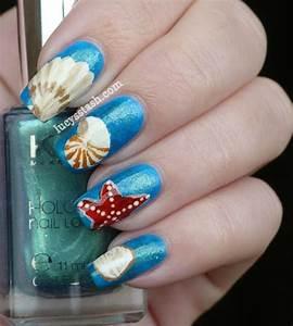 Sea Shells nail art | Nail Art | Pinterest
