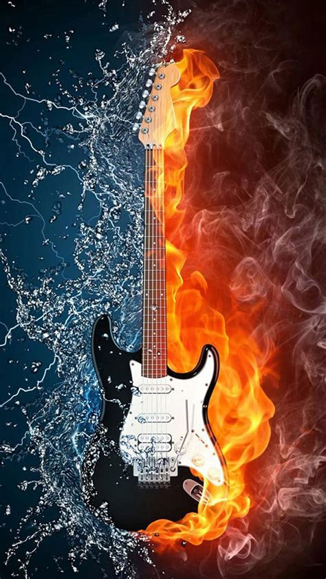 Here are the most popular versions guitar tabs, chords, bass, guitar pro. Full HD Wallpapers For Mobile-Water and fire guitar Galaxy ...