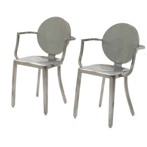 18 quot stainless steel back dining height chair set of