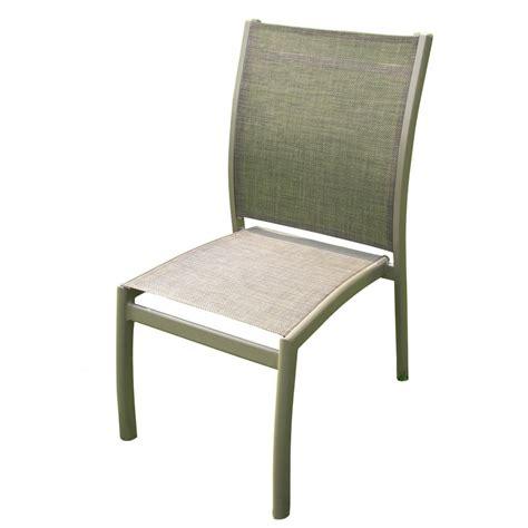 chaise de jardin chaise de jardin aluminium et textilène taupe pary bricozor