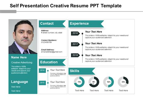 Resume Ppt by Self Presentation Creative Resume Ppt Template Ppt
