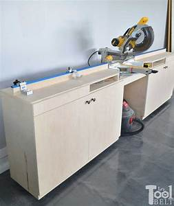 Mobile Miter Saw Station and Storage - Her Tool Belt