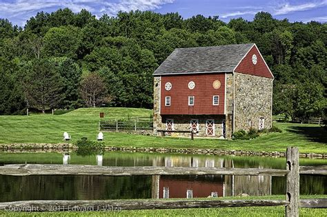 Barn Pa by Barn Pond Fence Lower Saucon Township Pa Barns