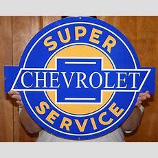 Chevrolet Super Service Metal Signchevymall