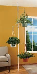 spring tension rod indoor plant pole with 3 adjustable