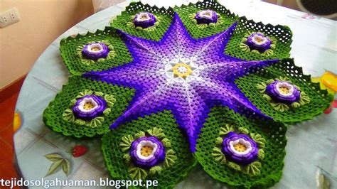 tapete o carpeta tejido a crochet paso a paso video 2 youtube
