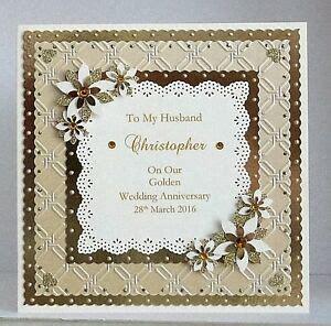 golden  wedding anniversary card wifehusbandmumdad