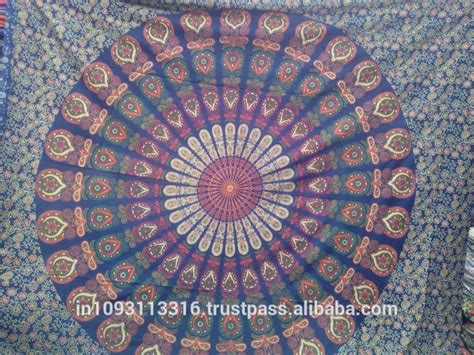 Latest Peacock Mandala Tapestry Floral Indian Wall Hanging