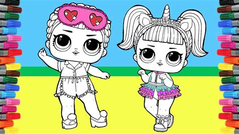 lol surprise doll coloring pages coloring unicorn