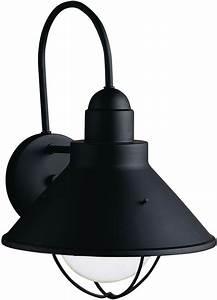 kichler 9023bk black seaside single light 14quot tall outdoor With kichler lighting 9022 seaside outdoor sconce