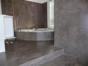 Béton Ciré Pas Cher : beton cire salle de bain mur solutions pour la ~ Premium-room.com Idées de Décoration