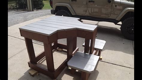 awesome shooting bench build    youtube
