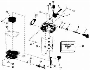 Johnson Carburetor Parts For 1988 4hp J4rccs Outboard Motor