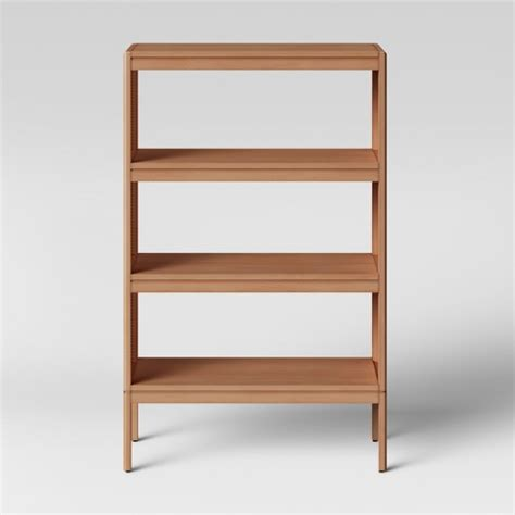 Brown Bookshelf by 48 Quot Minsmere Caned Bookshelf Brown Opalhouse