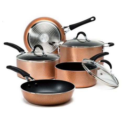 ecolution impressions cookware set hammered copper  pc marianos