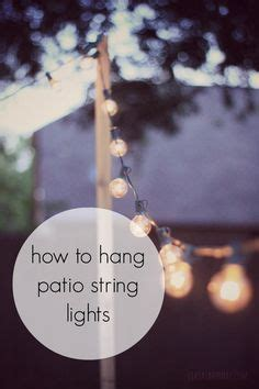 1000 ideas about patio string lights on