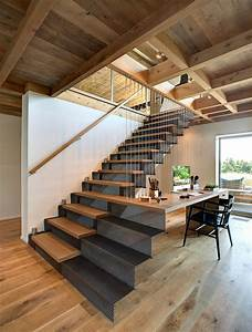 Metal  U0026 Wood Stairs  Home Office  Home Addition