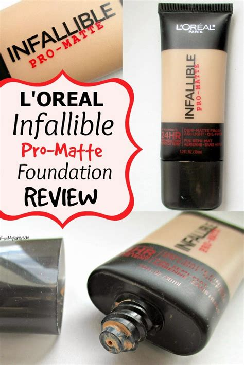 L Oreal Infallible Pro Matte Foundation l oreal infallible s new pro matte line has a solid