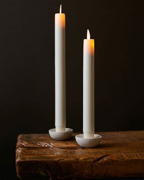 candel wax miracle led wax taper candles set of 2 balsam hill uk