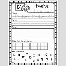 Number Worksheets For 120  School  Pinterest  Teen Numbers, Number Recognition And Ten Frames