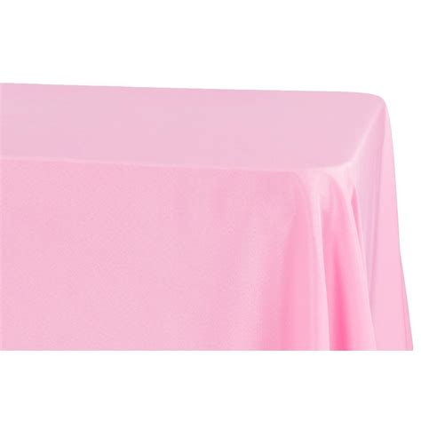 "Economy Polyester Tablecloth 90""x132"" Rectangular Pink"