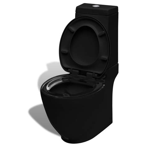 Uk Square Toilet Ceramic Black