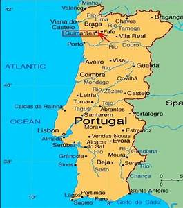 Map Of Portugal For Tourists  Map Showing Portugal Towns
