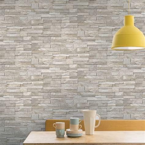 tile wallpaper for kitchen grandeco brick effect wallpaper in sand 6193