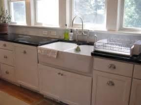 vintage farmhouse kitchen style with white ceramic double