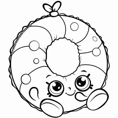 Shopkins Coloring Pages Pool Season Party Ring
