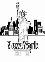 Coloring Liberty York Statue Pages Books Drawing Lesson Printable Skyline Template Colouring Pencil Printables Easy Adult Getcolorings Getdrawings Wickedbabesblog Buildings sketch template