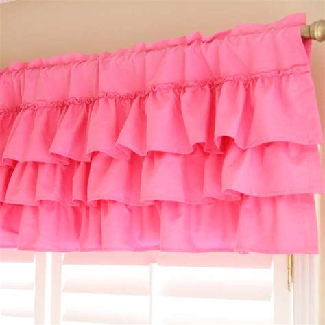 Pink Ruffle Curtain Topper by Ruffle Curtain