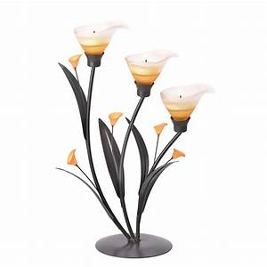 Metal, Candle, Holders, Decorative, Candle, Holders, Colored, Lilies, Candleholder