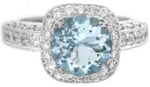 aquamarine engagement rings ornate filigree aquamarine and halo ring in 14k white gold gr 1101