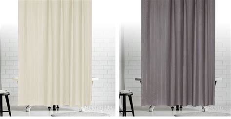 Extra Long Or Wide Fabric Shower Curtain In Black ,grey