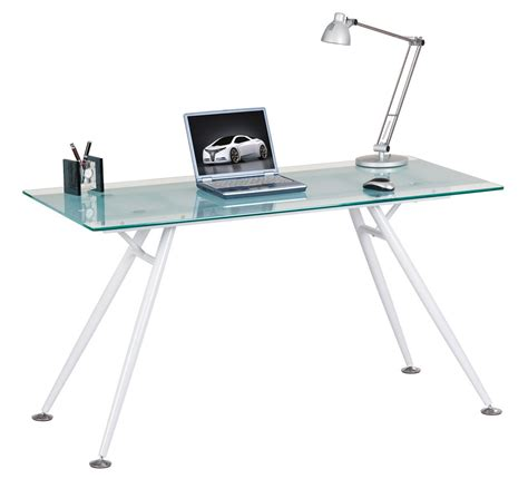 sturdy glass computer desk alphason aw42366 cl desks