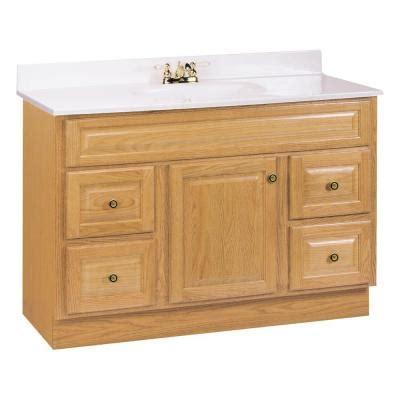 glacier bay hton 48 in w vanity cabinet only in oak