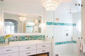 miami sea glass tiles bathroom transitional with two sinks