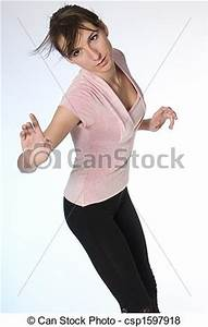 Pictures of woman portrait - girl in the dynamic pose ...