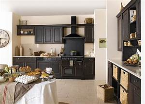 Deco Cuisine Bistrot : exemple cuisine noire style bistrot cuisine cuisine bistro cuisine bistrot et cuisine am nag e ~ Louise-bijoux.com Idées de Décoration