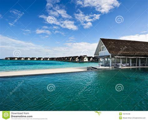 water house  swimming pool  beach resort stock