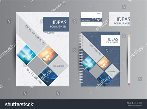 corporate identity business catalog cards notebook stock