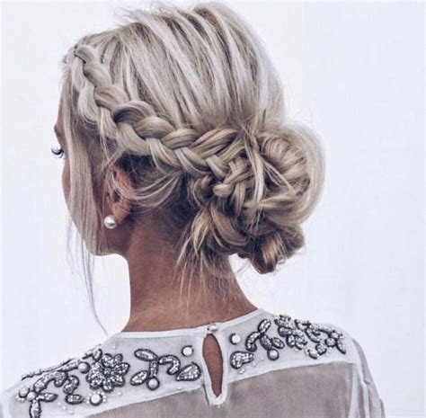 Braided Side Bun Hairstyles by The Braided Updo Teased Side Braid Fading