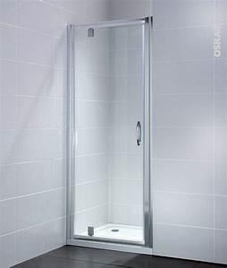 Porte Douche 90 : porte de douche pivotante olympe 70 cm verre transparent oskab ~ Nature-et-papiers.com Idées de Décoration